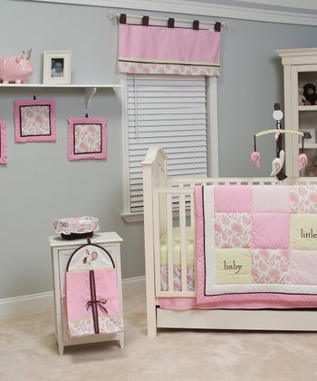Pink Paisley Crib Bedding Set
