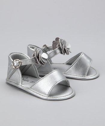 Silver Blossom Sandal