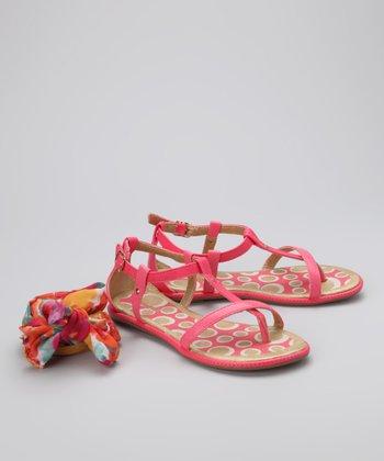 Pampili Hot Pink Scarf Sandal
