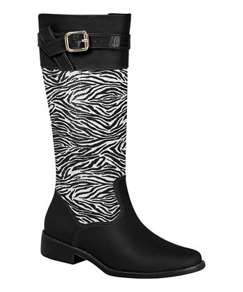 Black Zebra Boot