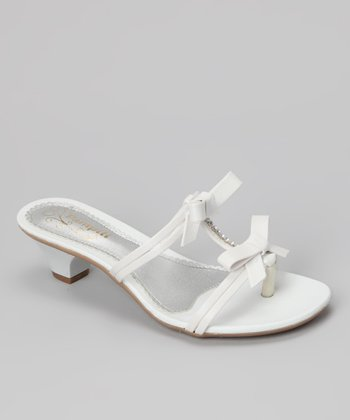 White Double Bow Sandal