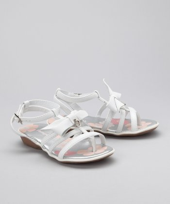 White Ribbon Bow Sandal
