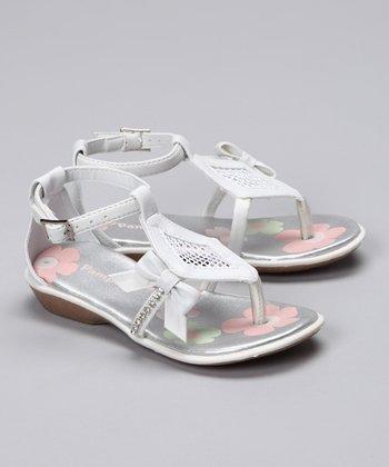 White Diamond Mesh Sandal