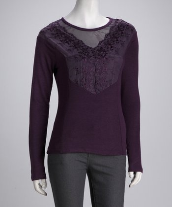 Panitti Purple Lace Top