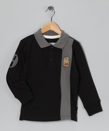 Black Rugby Polo - Boys