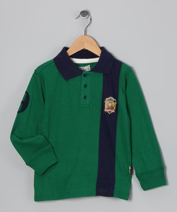 Green Rugby Polo - Boys
