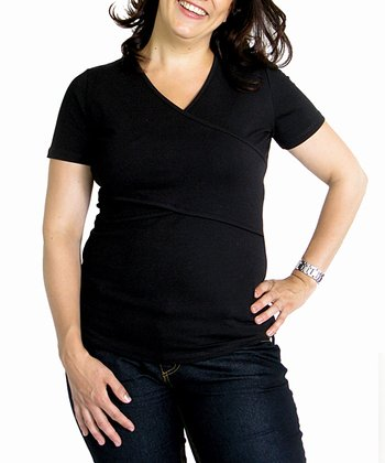 Black Flock Maternity & Nursing Short-Sleeve Tee
