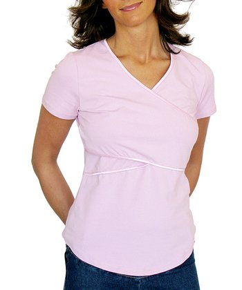 Ash Pink Maternity & Nursing Short-Sleeve Top