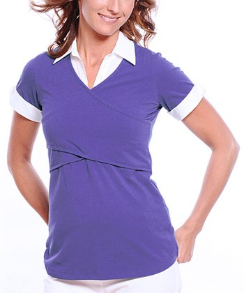 Grape Organic Maternity & Nursing Polo