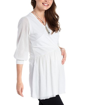 White Organic Maternity & Nursing Tunic