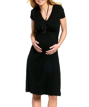 Black Tanja Maternity & Nursing Dress - Women