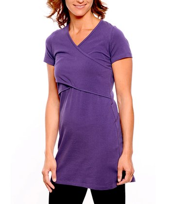 Grape Organic Maternity & Nursing V-Neck Tunic