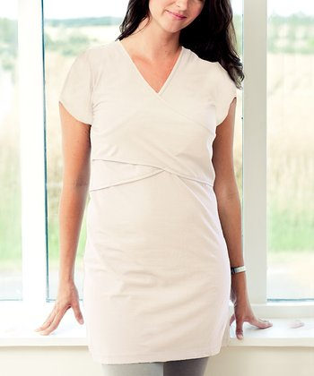 Shell Organic Maternity & Nursing V-Neck Tunic