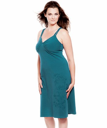 Ocean Organic Maternity & Nursing Dress