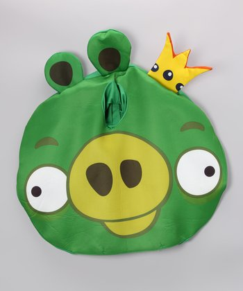 Green Angry Birds King Pig Dress-Up Outfit - Kids