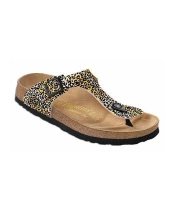 Yellow Wildcat Gizeh Sandal