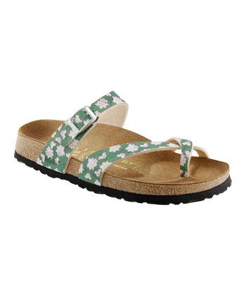 Green Lotus Flower Tabora Sandal