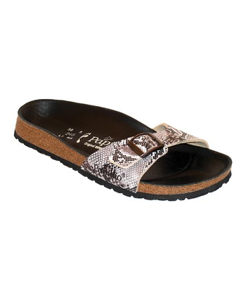 Brown Snake Madrid Slide - Women