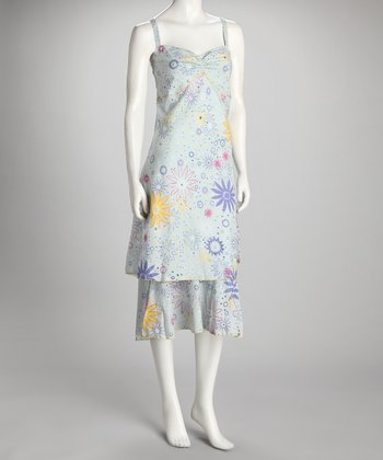 Blue & Yellow Floral Dress