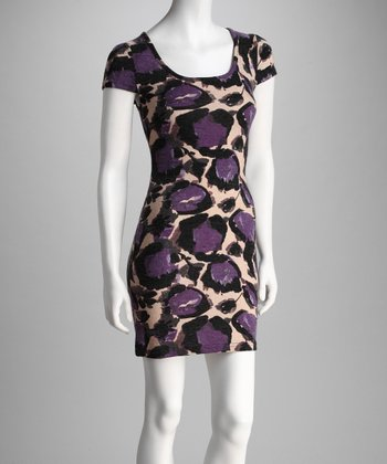 Purple Leopard Dress