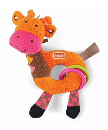 Giraffe Rattle Around Plush Toy