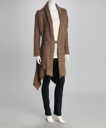 Brown Tie-Waist Duster