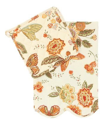 Butterfly Dish Towel & Pot Holder Set