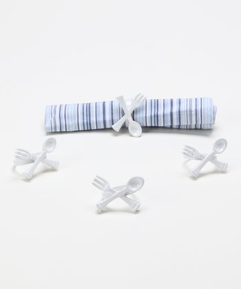 Kitschy Flatware Napkin Ring - Set of Four