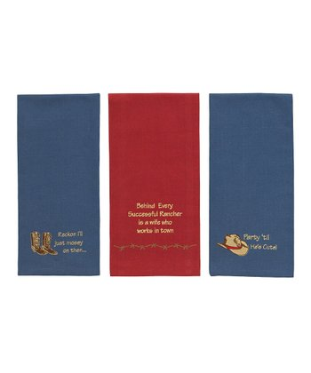Western Dish Towel Set
