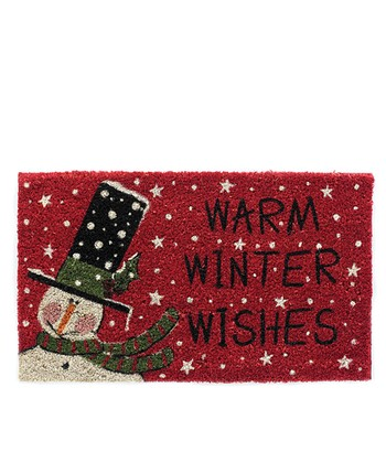 Top Hat 'Warm Winter Wishes' Doormat