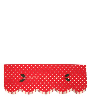Park Designs Holly Dot Scalloped Mantel Scarf