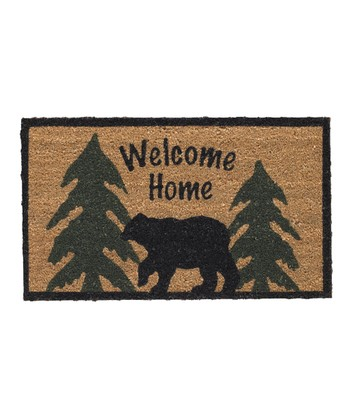 'Welcome Home' Black Bear Doormat