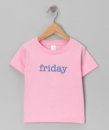 Pink 'Friday' Organic Tee - Toddler
