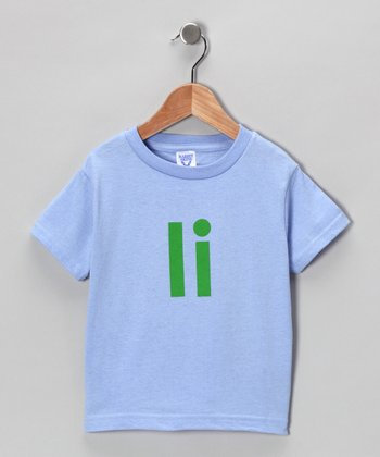 Blue & Green 'I' Tee - Toddler & Kids