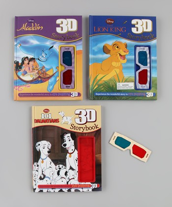 101 Dalmatians, Aladdin & The Lion King 3-D Hardcover Set
