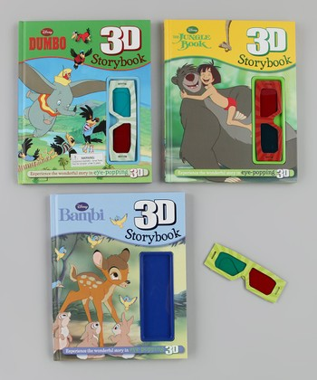 Bambi, Dumbo & The Jungle Book 3-D Hardcover Set