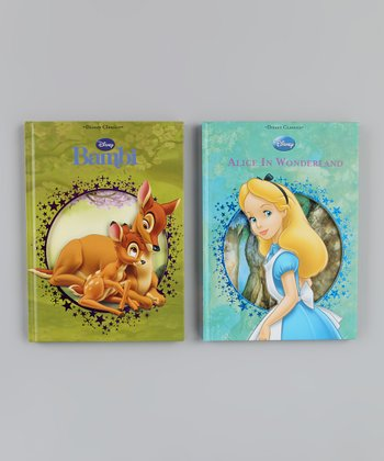 Alice in Wonderland & Bambi Die-Cut Hardcover Set