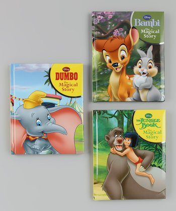 Bambi, Dumbo & The Jungle Book Padded Hardcover Set