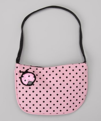 Pink Polka Dot Lady Bug Purse