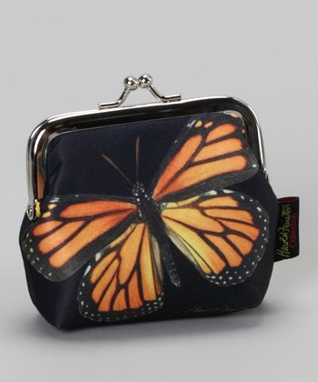 Orange Butterfly Kiss Coin Purse
