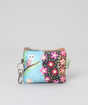 Blue Owl Zip-Top Coin Purse