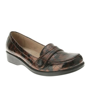Brown Crocodile Loafer