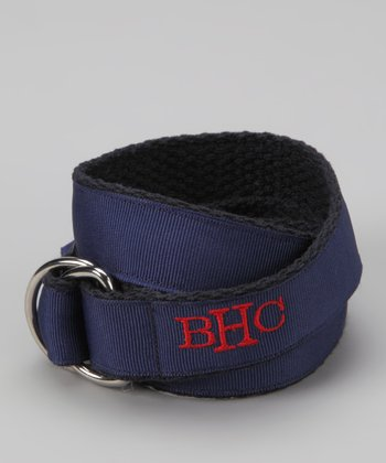 Red & Navy Monogram D-Ring Belt - Toddler & Boys
