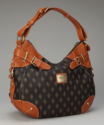 Brown Diamond Edition Double Buckle Hobo