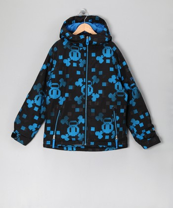 Blue Checkered Skull & Crossbones Jacket - Boys