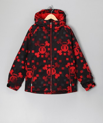 Red Checkered Skull & Crossbones Jacket