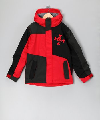 Red Patch Skull & Crossbones Jacket - Boys