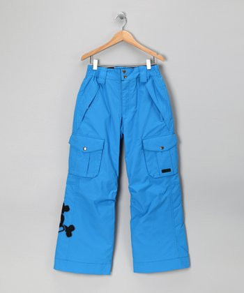 Blue Skull & Crossbones Snow Pants - Boys