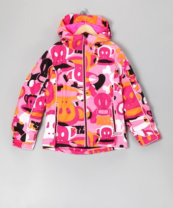 Magenta Heart & Skull Jacket - Girls