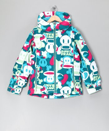 Teal Heart & Skull Jacket - Girls